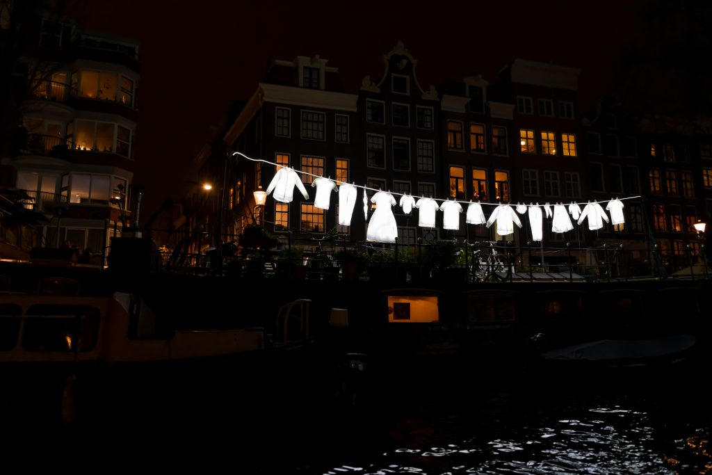 Neighborhood van Sergey Kim tijdens Amsterdam Light Festival 2019